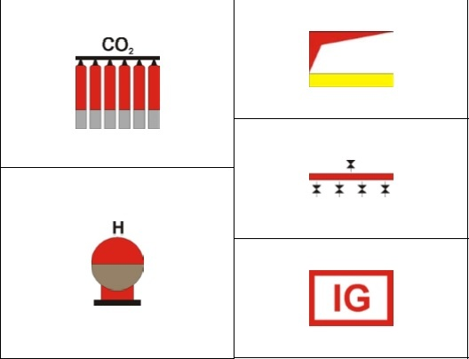 SYMBOLS FOR SHIPBOARD FIRE CONTROL PLANS